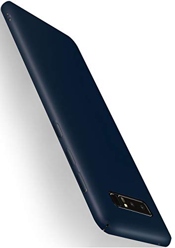 moex Alpha Hülle für Samsung Galaxy Note8 Hülle Stoßfest & Leicht Handyhülle Extra Dünn, Super Slim Schutzhülle Ultra Air Hybrid PC Hardcase aus Kunststoff - Matt Blau