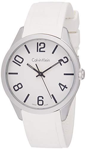 Calvin Klein Reloj Analógico para Hombre de Cuarzo con Correa en Silicona K5E511K2