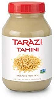 Tarazi All Natural Tahini | Non-GMO, All Natural, Made From 100% Premium Sesame Seeds, Made in California, Kosher | 2 Poun...