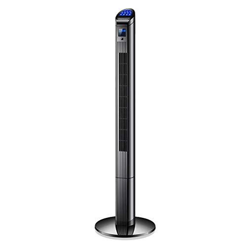 Klimageräte-cooler Hochleistungs Turmventilator Mit Fernbedienung Und LED Display Säulenventilator 3 Geschwindigkeitsstufen Geräuschlos Oszillierender Blattlos 40dB (Black)