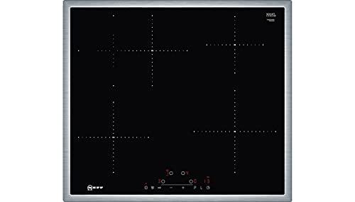 Neff T46BD60N0 Induktionskochfeld N70 / 60cm / TouchControl / Bräterzone / Glaskeramik / Edelstahlrahmen, Schwarz