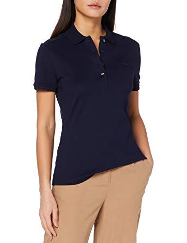 Lacoste PF5462 T Shirt Polo, Marine, 44 para Mujer
