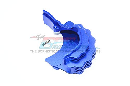 for Traxxas E-Revo 2.0 VXL Brushless (86086-4) Upgrade Parts Aluminum Center Main Gear Cover with Heat Sink Fins - 1Pc Set Blue