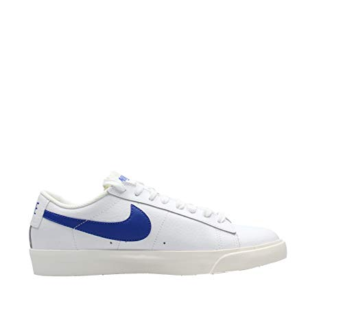 Nike Blazer Low Leather, Zapatillas de bsquetbol Hombre, White Astronomy Blue Sail, 44 EU