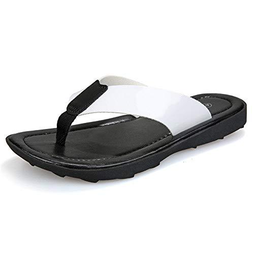 SUSHANCANGLONG Sandalias deportivas Flip-Flop para hombre, cómodas, casuales, para exteriores, para hombre, blanco, 100