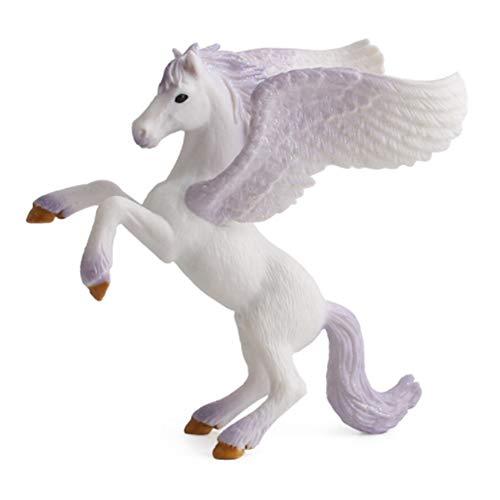 NaiCasy Tiere Figuren Flying Pegasus Skulptur Pferd Einhorn Modell Spielzeug Geburtstagsgeschenk für KidsToddlers Kinder Hand Malerei Tier Modell 1 Stück(PL127-762)