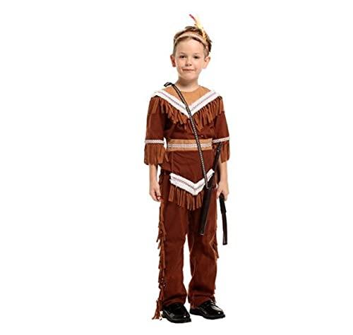 Fantasia Infantil Halloween Indios Princesa Indiana Arqueiro (MENINO, 120-130 cm)