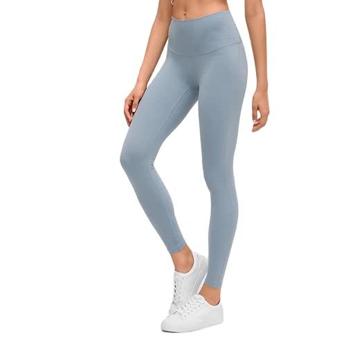 QTJY Leggings Deportivos Desnudos Suaves para Mujer, Pantalones de Yoga para Levantar la Cadera y Cintura Alta, Pantalones de Entrenamiento para Celulitis, Push-ups, A XL