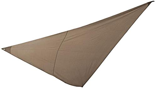 PEGANE Voile d'ombrage Triangulaire en Polyester Coloris Taupe - Dim : 2 x 2 x 2 m