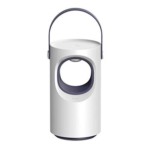 Lámpara LED Asesino Electrónico de Mosquitos, Insecto Asesino Lámpara Silencioso, Radiación silenciosa Mosquito Trampa Control de Insectos, Cargador USB para Uso en Exteriores