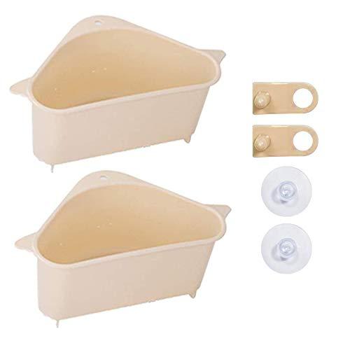 Keuken wastafel hoek vergiet Strainer Peel Filter, Driehoek Opknoping wastafel Drain Storage Rack Ondersteuning Shelf hoek met Sucker voor Keuken Badkamer
