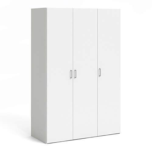 Furniture To Go Space Wardrobe with 3 doors White, Wood, Size