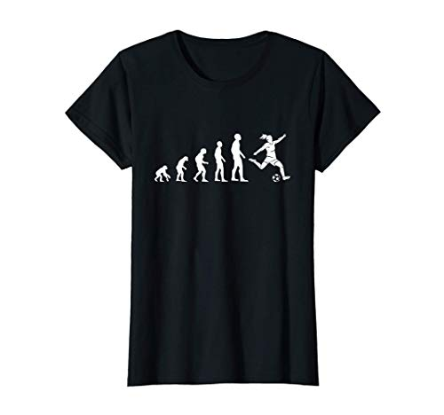 Donna Calcio femminile. Giocatore di calcio. Evoluzione Maglietta