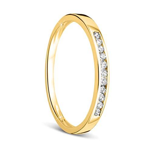 Orovi anillo mujer compromiso/aniversario 0.10 Quilates