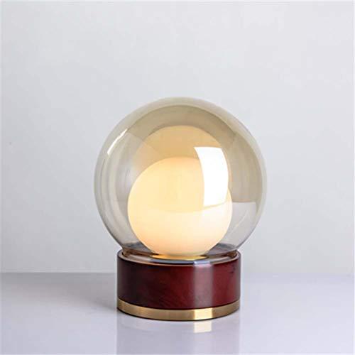 NoNo Log Glas Tischlampe Nachttischlampe, Glaslampenkörper, LED Gute Optische Leistung, Eine Gute Wärmedämmung Leistung, Geeignet Für Wohnzimmer/Studie/Schlafzimmer,B