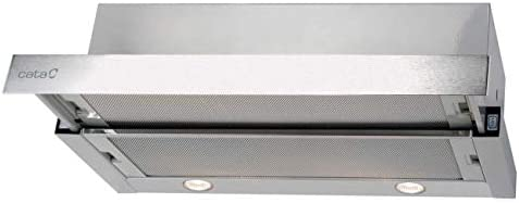 CATA | campana extractora | Modelo TF 2003 DURALUM 60 | 2 velocidades de extracción | campana extractora cocina 390m3/h - 150m3/h | Acabado en acero inoxidable