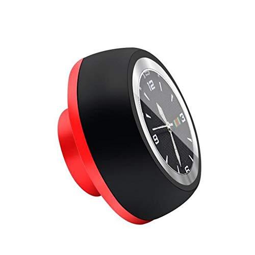 JVSISM Bicycle Headset Stem Watch Waterproof Quartz Watches Luminous Headset Stem Bike Stem Top Cap Accessories-Black+Red 2