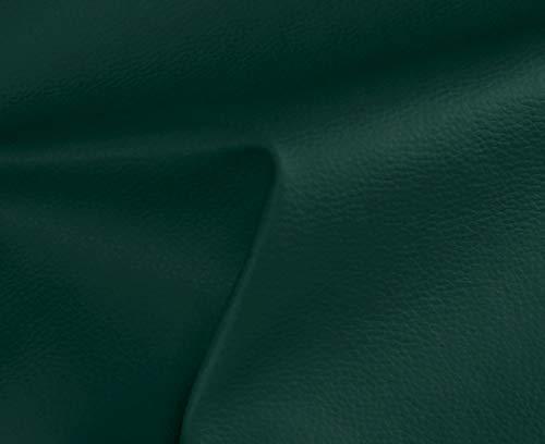 HAPPERS 0,50 Metros de Polipiel para tapizar, Manualidades, Cojines o forrar Objetos. Venta de Polipiel por Metros. Diseño Solar Color Verde Oscuro Ancho 140cm
