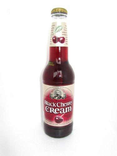 Henry Weinhard's BLACK CHERRY CREAM SODA  -  Henry makes better soda than beer, 12-Ounce Glass Bottle (Pack of 12)