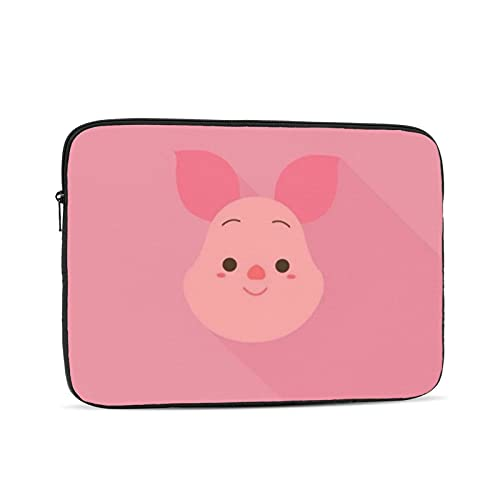 Winnie Cartoon Pooh Waterproof Laptop Shoulder Messenger Bag Polyester Zipper, for 12 inch Case Sleeve Protective Soft Padded