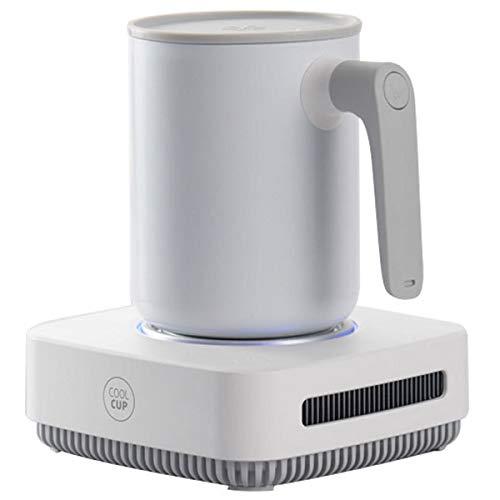 ZHBD 450 Ml 12V Coffee Warmer, 2 En 1 Taza De Dispositivo Más Caliente del Refrigerador, Taza De Calefacción Rápida De La Taza De La Costa Termostática, Placa De Calentamiento para Café De Leche