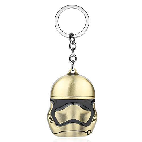 Película Star Wars Llavero Nave Espacial Yoda Robot Darth Vader Modelo Metal Llavero Llavero Regalo para niños 13bronze