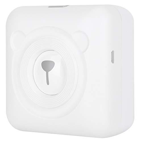 Bild Fotoetikett Memo Empfangspapier Tragbarer Drucker Mini Pocket Wireless BT Thermodrucker, Unterstützung für iOS Smartphone A6 Weiß 304 dpi