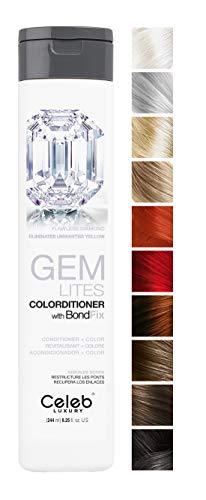 CELEB LUXURY GEM LITES COLORDITIONER FLAWLESS DIAMOND - ELIMINATES UNWANTED YELLOW 244 ml.