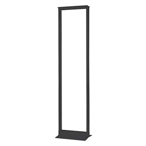 C2G 2-Post 45U Open Frame Server Rack - Supports 750lbs Of Network & IT Equipment - Includes 50 Panel Mounting Screws - Self Squaring & Self Supporting Design With EIA Hole Pattern - Black
