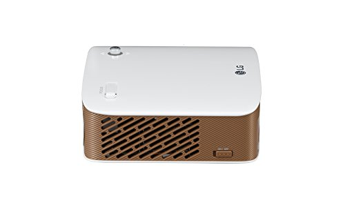 LG Beamer PH150G bis 254 cm (100 Zoll) CineBeam LED HD Projektor (130 Lumen, Smart Share, integrierter Akku) gold weiß