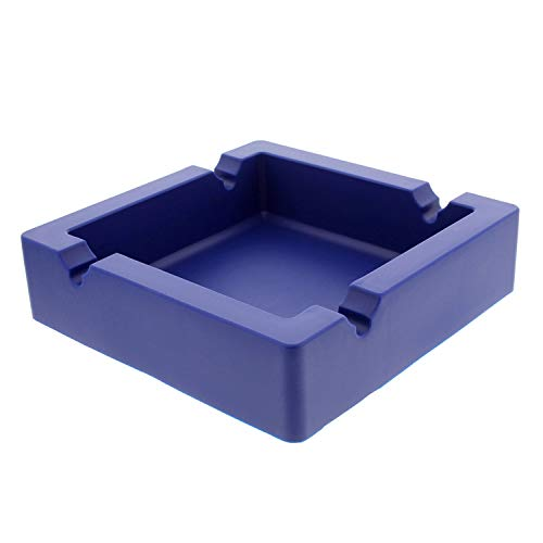 7Penn Large Silicone Ashtray for Cigars Cigarette Ashtray Outdoor Ashtray, Ash Tray Outdoors and Indoors – Navy