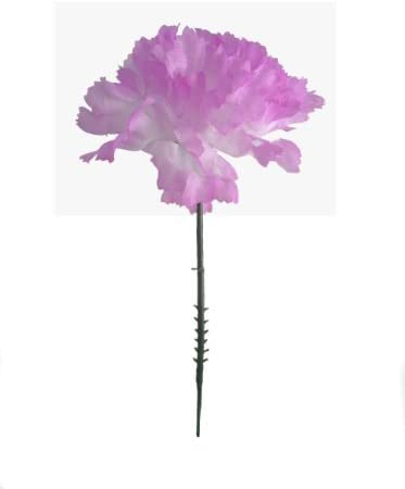 Larksilk Violet Super beauty product restock quality top! Silk Carnation Picks Artificial Flowers shipfree Wed for
