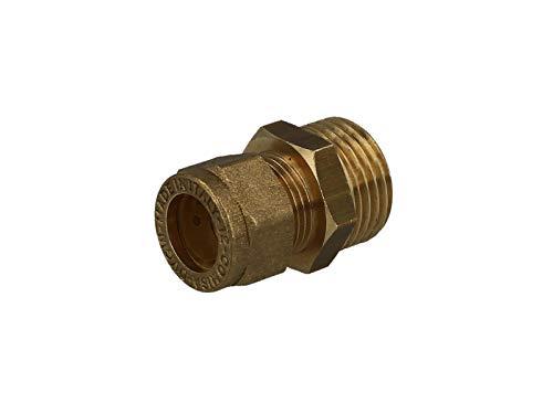 MS-Klemmringverbinder, Einschraubverschraubung mit zyl. Gewinde 15 mm x 1/2 AG