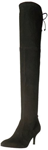 Stuart Weitzman Women's TIEMODEL Over The Knee Boot, Black, 9.5 Medium US