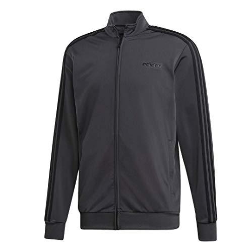 adidas Herren Essentials 3-Stripes Tricot Track Jacket Jacke, Grau/Schwarz, Large