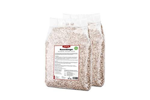 Ruemar Rasendünger für Rasen und Garten. Nährstoffreicher Dünger Granulat zum streuen 20 kg, für alle Rasensorten. EG Pflanzen Düngemittel mit 3 Monate Langzeitwirkung Sommer Frühling