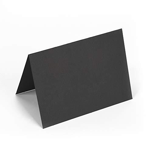 ewtshop® Tafelfolie Tischkarten, schwarz 50 Stück, beschriftbar