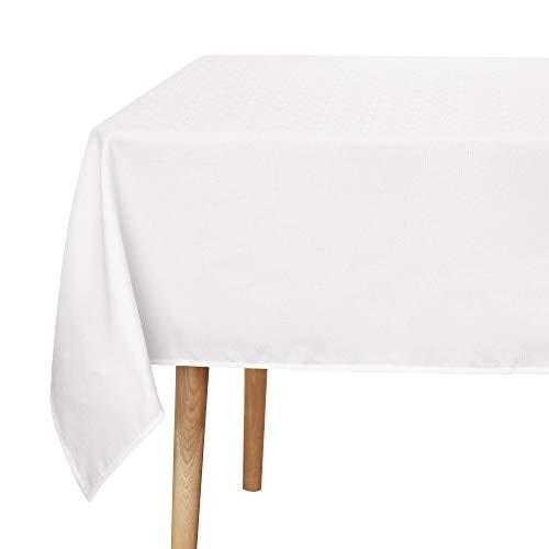 UMI. by Amazon Mantel Mesa de Tela Rectangular Antimancha de Cocina Hogar 140 x 200 cm Blanco