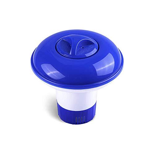 GLOBALDREAM Dispenser Chimico, 5 inch Dosatore di Cloro Dosatore di Cloro Galleggiante Erogatore di Cloro Cloro Diffusore per Interni Piscine all aperto, Vasca (1 Pezzo)
