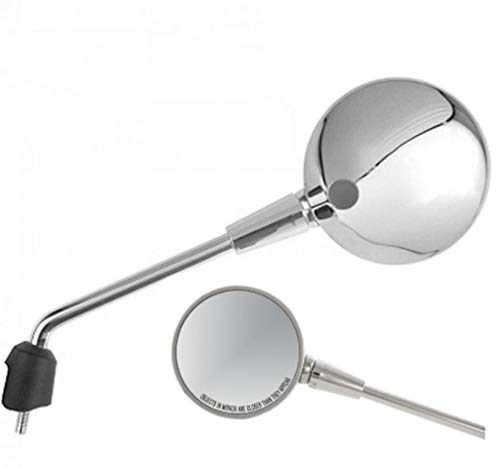 Espejo retrovisor izquierdo izquierdo cromado para Vespa Primavera 50 125 150 Elettrica CM182101 CM82101 CM261901