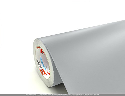 CLICKANDPRINT 5m Klebefolie, 100cm breit, Hellgrau EC » Klebefolie/Stickerfolie/Selbstklebefolie