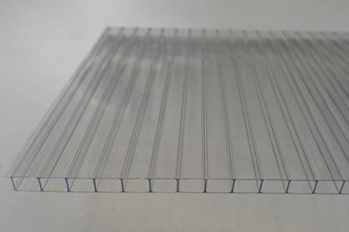 Stegplatten Ersatzplatten für Gewächshaus 6 mm klar farblos UV-geschützt (L x B = 1180 x 585 mm)