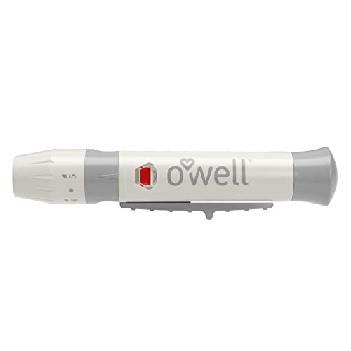 O'Well Painless Design Lancing Device + 40 Twist Top Lancets for Blood Glucose & Keto Testing | Lancing Kit Includes: 1 Adjustable Lancing Device + 10 of 26g, 28g, 30g & 33g Lancets (40 Lancets)