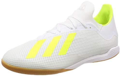 Adidas X 18.3 in, Zapatillas de fútbol Sala para Hombre, Multicolor (Ftwbla/Amasol/Ftwbla 000), 44 2/3 EU