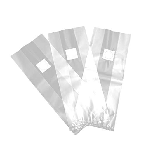 Aiyrchin Bolsas de Hongos/Setas Bolsas de Cultivo/farmmushroom freza Micron Filtro, Extra Gruesa 8 mils Tamaño 19.6x9.84inch, para Sustrato autoclavables 10pcs