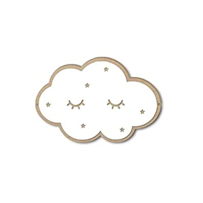 Modernlife 3D Wall Mirror Decal Stickers Wall Stickers for Baby Nursery Kids Room Decor (Cloud)