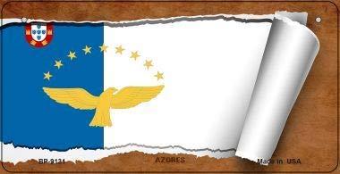Koopje Wereld Azoren Vlag Scroll Nieuwigheid Fiets Plaat (Met Sticky Notes)
