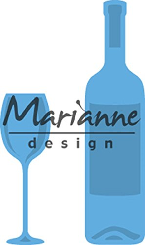 Marianne Design Stanz und Prägeschablone Creatable Weinflasche & Weinglas