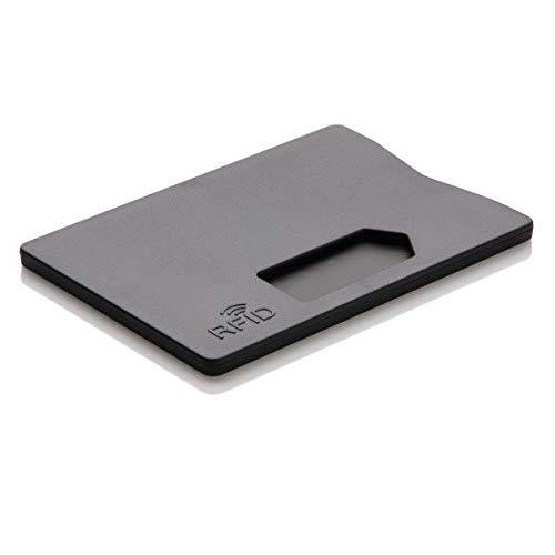3X RFID EC Kartenhülle TÜV geprüft Schutzhülle Stabil Kreditkartenhülle NFC Blocker für Ausweisetui, Scheckkarten, Bankkarten sicherer Schutz vor Datenklau (Schwarz)