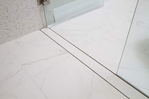Mark E Industries Goof Proof 60 Inch Linear Shower Drain Full Installation Kit with Tile-On Insert Top